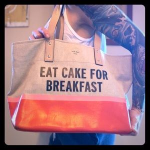 Kate Spade tote Eat Cake For Breakfast ❤️💗🍰